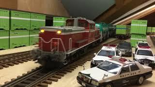 OJゲージ鉄道模型DD51牽引タキ1000
