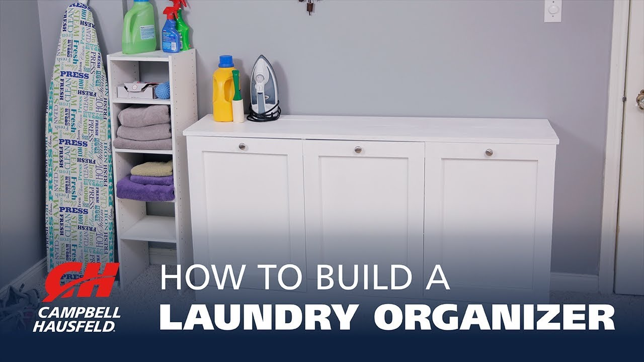 How to build a diy laundry organizer youtube how to build a diy laundry organizer solutioingenieria Images