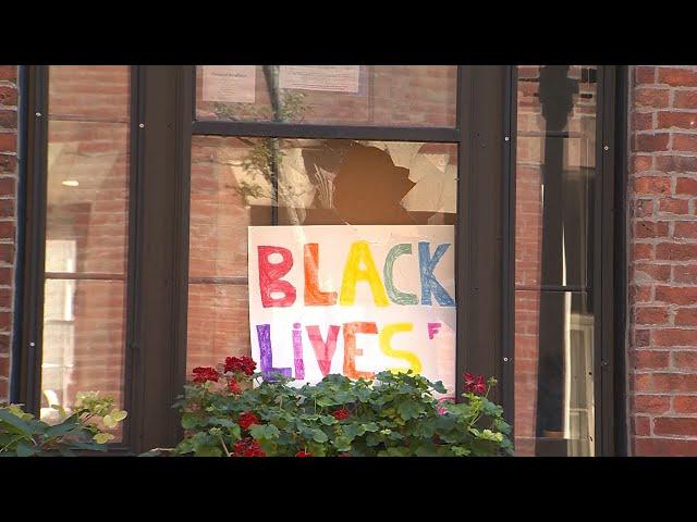 Bricks thrown through windows of Boston homes displaying Black Lives Matter signs