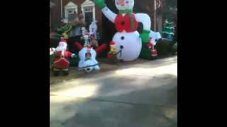 Crazy Blow-up Yard Christmas Decorations