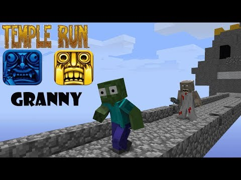 download Monster School : GRANNY TEMPLE RUN CHALLENGE - Minecraft Animation