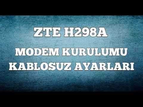 Zte ZXHN H298A Kablosuz Modem Kurulumu