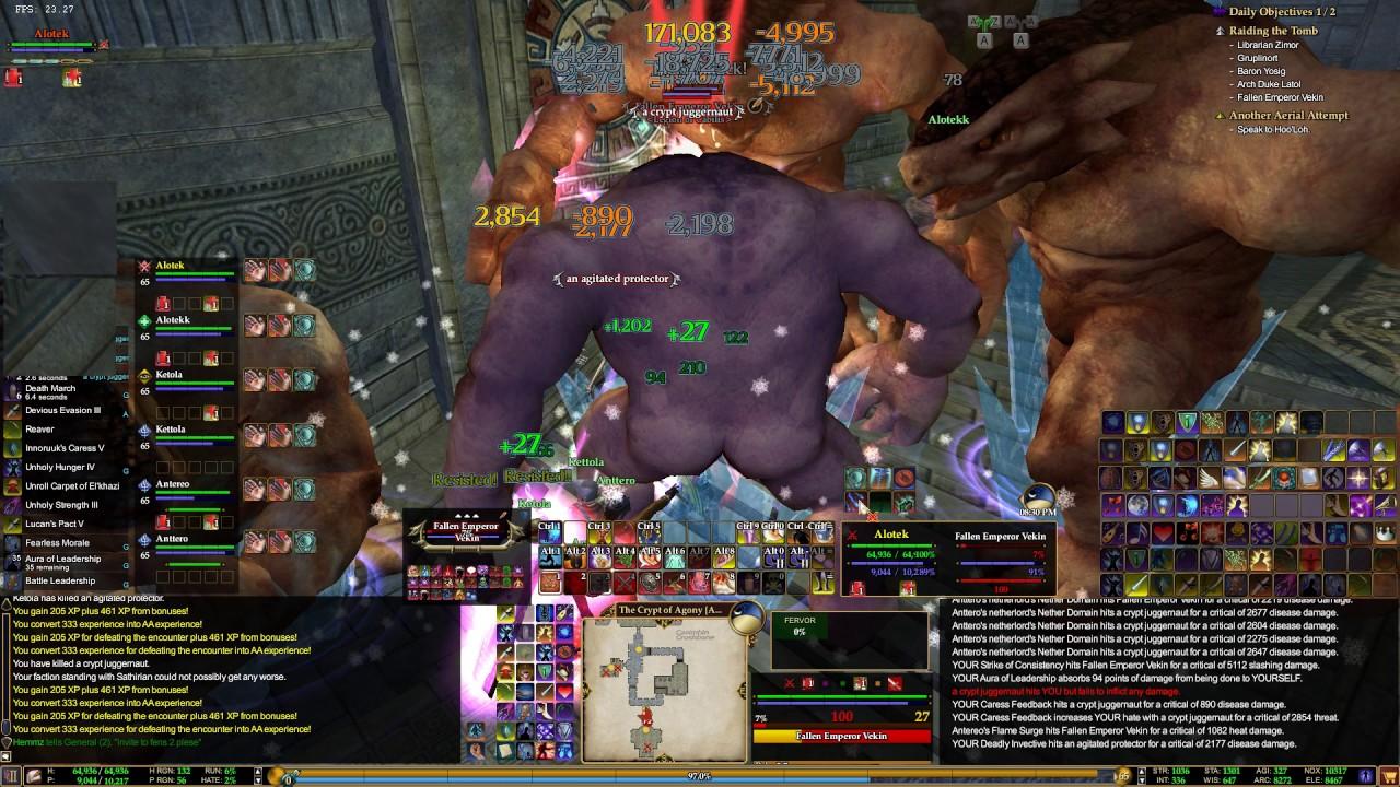 ISBoxer - Everquest 2 Six man multibox - Crypt of Agony run