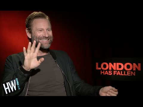 Aaron Eckhart Reveals Which Co-Star He DOES NOT Trust! (LONDON HAS FALLEN)