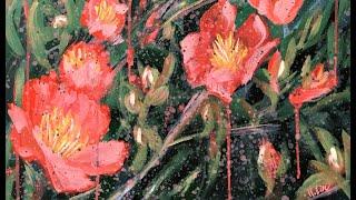 Sunny Days Ahead - Yuletide Camellia -Timelapse Art Video By HSIN LIN ART /@Helloinnerpeace /Floral