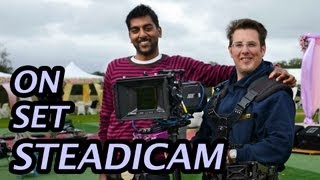steadicam arri alexa on set in bollywood feature film shot in the uk