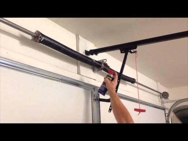 How To Grease Your Garage Door Garage Door Maintenance Youtube