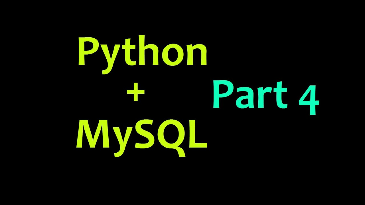 MySQL Database with Python Tutorial Part 4 - Inserting Variables as Data