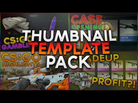 CS:GO Thumbnail Template Pack | 4 Awesome Thumbnails | Free Download!