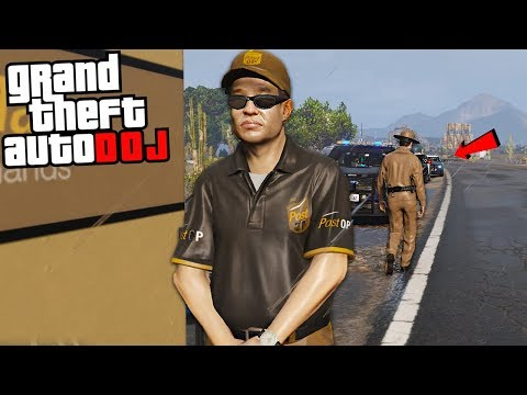 UPS DELIVERY GONE WRONG - GTA 5 Roleplay - DOJ 77 thumbnail
