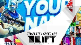 FREE FORTNITE BATTLE ROYALE BANNER TEMPLATE AND SPEED ART - DRIFTDZN™
