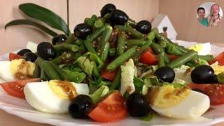"""Самый Вкусный Фитнес Салат с Тунцом! Салат с тунцом! Салат """"Нисуаз"""""""