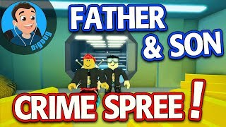 My Son and I are playing Roblox Jailbreak It's a Father & Son Crime Spree in Roblox Jail Break