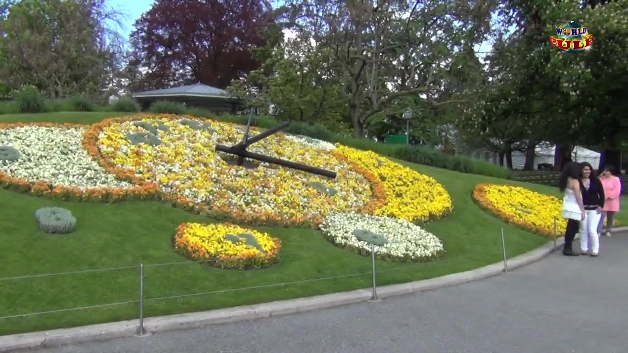 World cul ginebra reloj de flores jardin ingl s youtube for Jardin ingles