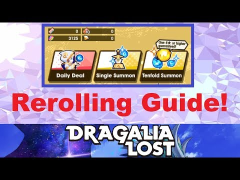 Dragalia Lost - Rerolling Guide! (A Rerolling Tutorial For Dragalia Lost)