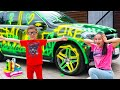Artem and Mom - Funny stories for children about toys cars and superhero