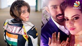 Vijay Antony's heroine Alisha Abdullah gets engaged to Naveen Devanraj | Bike Racer, Saithan