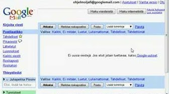 gmail - kirjautuminen ja uloskirjautuminen