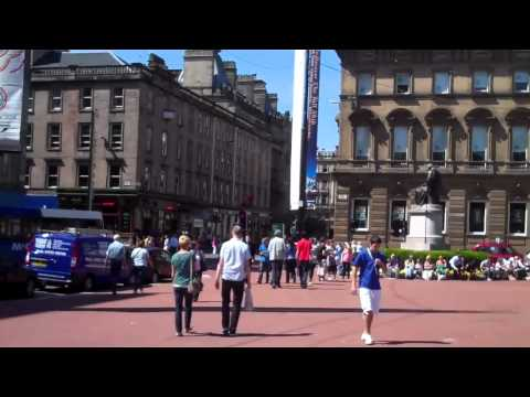 Glasgow in the sun
