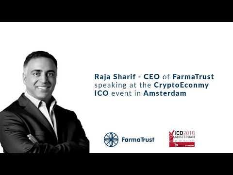 CEO Raja Sharif speaking at #CryptoEconomy at Amsterdam 30.1.2018