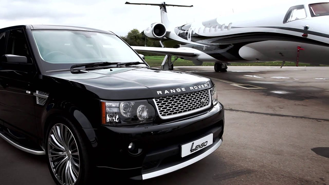 Black Range Rover on 22 Lenso ESA Concaved Dished Wheels  Rims