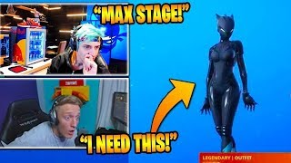 STREAMERS REACT TO *NEW* MAX LEVEL LYNX BATTLE PASS SKIN! (Fortnite Stream Highlights)