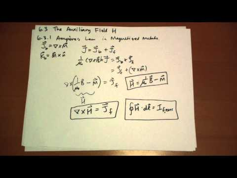 6.3.1 Ampere's Law in Magnetized Materials Conclusion