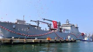 TCG SANCAKTAR - LST Tank Çıkarma Gemisi Denize İndirildi