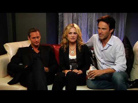 EW interview with Anna Paquin, Alexander Skarsgård and Stephen Moyer at Comic Con
