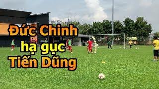 Thử Thách Bóng Đá Hà Đức Chinh trổ tài sút ghi bàn hạ Bùi Tiến Dũng U23 Việt Nam AFF CUP 2018
