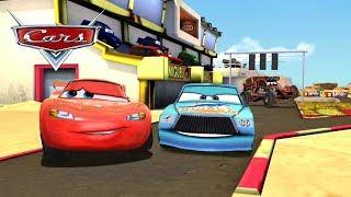 Lightning McQueen VS Idle & Police & Dinoco Chick Hicks Disney Cars Racing Gameplay