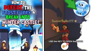 How to BREAK into the WINTER CASTLE in Adopt Me & Defeat Frost Furry! *SECRET PETS UNLOCKED*!?!?