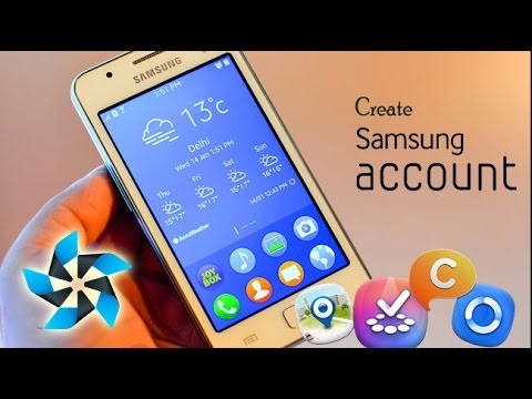 How to make a samsung account in Tizen
