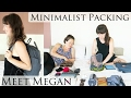 Minimalist Packs 17 Liters for 1 Month of Travel || Interview & Packing with Megan