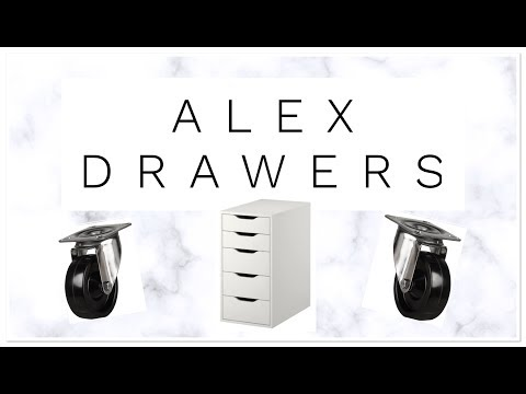 how to|nail desk|alex drawers ikea|diy castor wheels