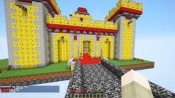 LUCKY BLOCKS RED VS BLUE SKY CASTLES MOD CHALLENGE - MINECRAFT MODDED MINI-GAME!