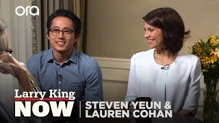 The Walking Dead: Steven Yeun & Lauren Cohan on Chemistry & Fate of their Characters thumbnail