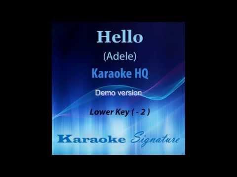 Hello Adele Karaoke - High Quality audio - by Karaoke Signature (Demo)