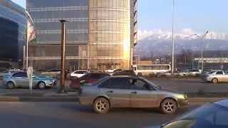 Как матерятся казахстанские гаишники. Назарбаев в Алматы