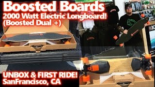 Boosted Boards 2000 Watt Electric Long Board - Dual + Unbox & First Ride San Francisco