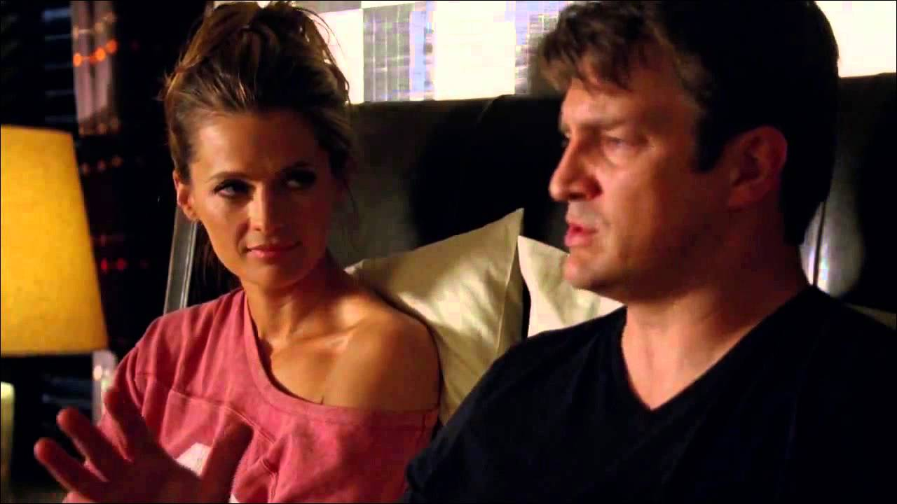 Castle 5x20 Fast And The Furriest Caskett Bedroom Scene And Kiss Hd Youtube