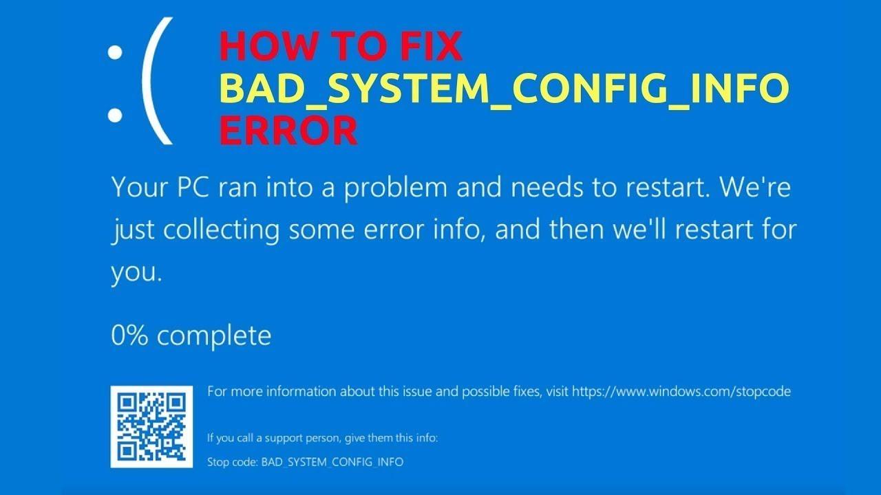 bad config error android