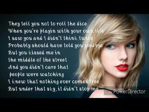Taylor Swift-Timeless (Loterry)  lyrics