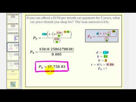 The Installment Loan Formula