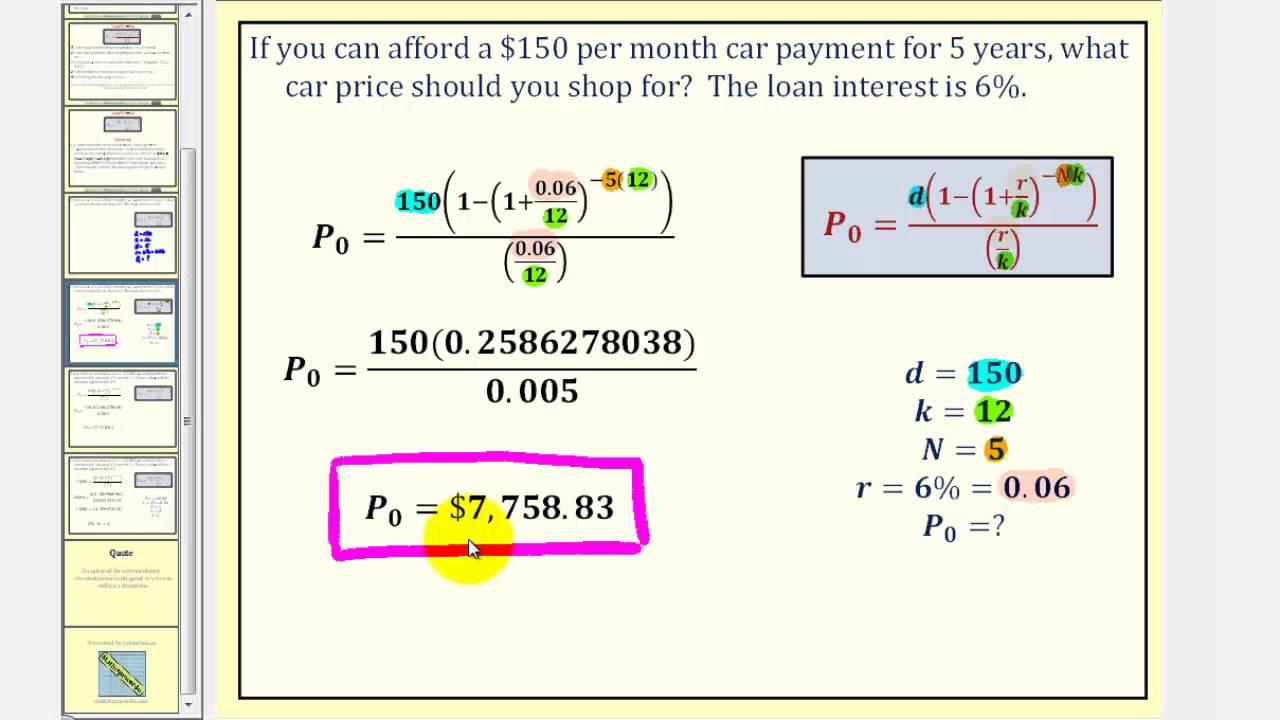 The Installment Loan Formula - YouTube