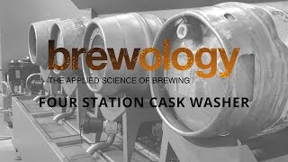 Brewology Four Station Cask Washer for Brains Brewery
