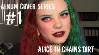 Album Cover Series: Alice In Chains Inspired Makeup