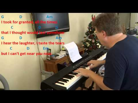 Right Here Waiting - Piano Practice in the Key of G Major
