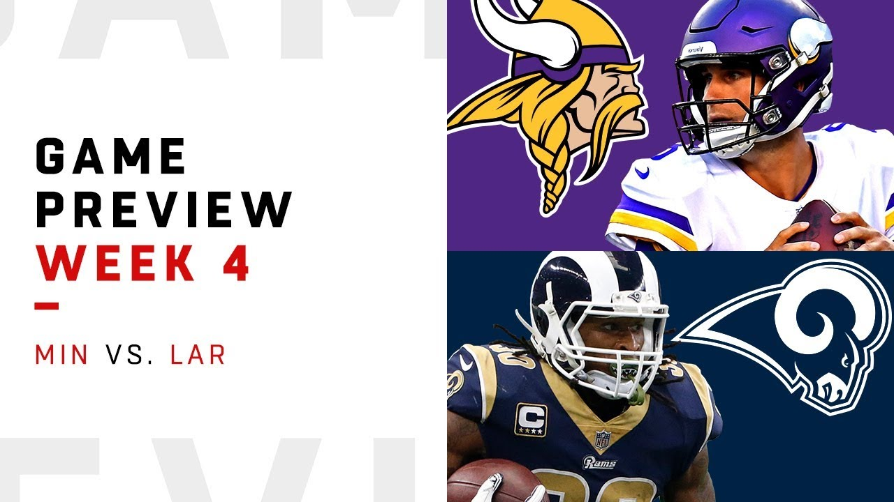 e355e0d2 Minnesota Vikings vs. Los Angeles Rams | Week 4 Game Preview | NFL