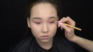 Макияж за 5 минут, на каждый день, азиатское веко | Julia Shavlova - Школа визажа makeuprof.kz